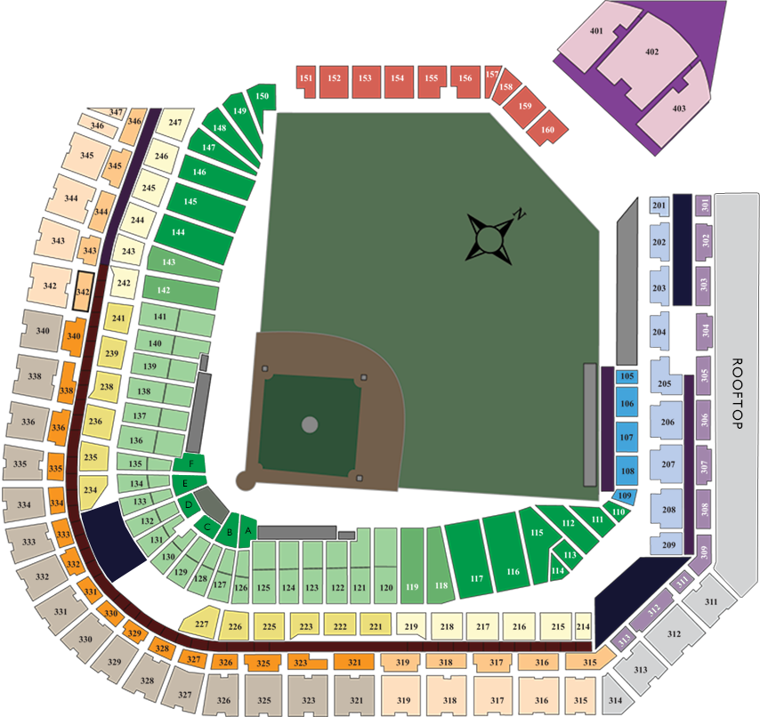 Coors Field Layout Admirably Rockies Stadium Map Rockies Seating ...
